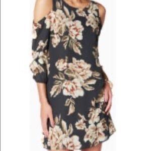 *Charming Charlie* Cold Shoulder Floral Dress